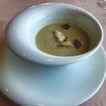 近江牛レストラン ティファニー - 春キャベツのスープは、しっかりキャベツを感じます(o^^o)