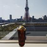 港区役所 レストランポート - 東京タワーが見えます