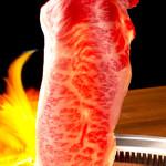 焼肉チャンピオン - 焼きしゃぶサーロイン:お肉をさっと炙ってお召上がりいただく焼きしゃぶ