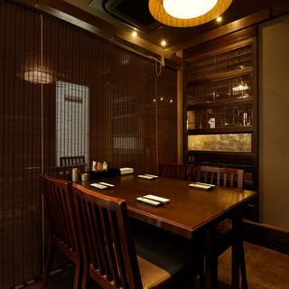 最大40名様までプライベートな個室空間でゆったりご宴会を…。