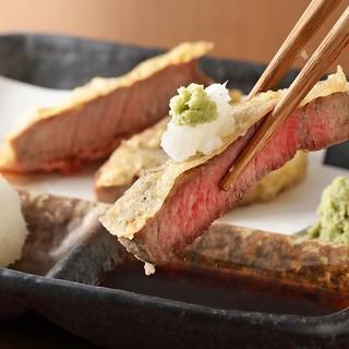 創業100周年記念・牛ヒレの天ぷらコース