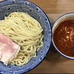 84431387 - 鴨だし辛つけ麺(中盛、2辛) ¥850