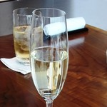 蒼天 - スパークリングワインとジンジャーエール