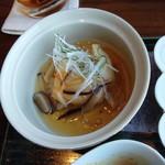 蒼天 - 揚げ豆腐のキノコ餡かけ
