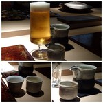 菊鮨 - ◆ビールと日本酒。日本酒は合計で3合(横山五十・而今・東鶴)を。