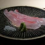 菊鮨 - ◆金目鯛(銚子)・・寝かせてから塩〆。 脂がのり美味。金目は美味しいですね。