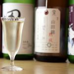 分讃岐うどんあ季 時譚 - 日本酒各種440円~