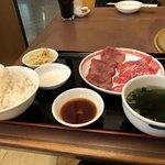 焼肉 山水 - 料理写真:得タンカルビ定食 1,814円