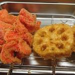 串カツさくら - 紅ショウガ、レンコン