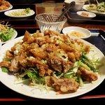 紅太陽 - 油淋鶏ランチ定食
