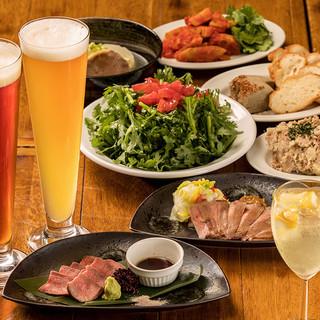 クラフトビール飲み放題付牛タン料理盛り沢山!充実コース!!!