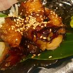 もつ鍋 亀八 - 料理写真:人気No.1!近江牛もつの炙り焼き