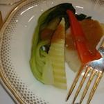 ホテルオークラ東京 - ホテルオークラ東京・熊本県産野菜と温野菜の盛り合わせ 特製ドレッシング添え