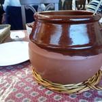 アロセリア ラ パンサ - 迫力の大きな甕?壺?