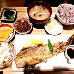 さち福やCAFE - ほっけ塩焼きおろし定食¥1382