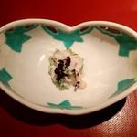 84452575 - 白みる貝と芹、鯛の白子で和えたもの