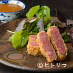 一燈 - 「福井の地からし」と「実山椒」のソースで味わう絶品! 『若狭牛カツレツ』