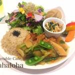 Vegetable Cafe Mahaloha - 車麩の唐揚げ春野菜あんかけプレート