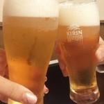 84456424 - ビールで乾杯♪
