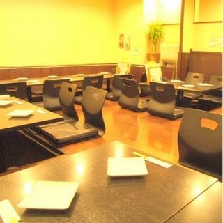 ◆掘りごたつ席は最大35名まで貸切は25名様からOK!