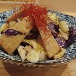 LBK CRAFT - 季節野菜のガーリックソテ600円。これ僕のイチオシっす♪