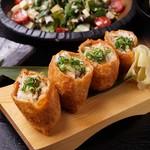 たかの家 - 5・6月のコース:穴子と五目野菜のいなり寿司