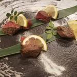 肉炉端 弁慶 - あぶり牛