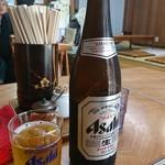 うどん深川 - 瓶ビール中❗