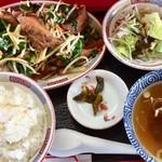 がんこ一番 - 「レバニラ炒め定食」950円(税込)