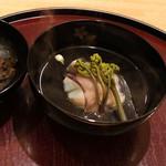日本料理 太月 - あいなめに葛きり、柚子の花のお椀