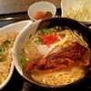 風 - 料理写真:ソーキそば&半チャーハン 980円