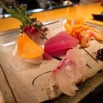 84471761 - お造り。赤貝は好き。貝が好き。メバチマグロは連れの胃袋へ。