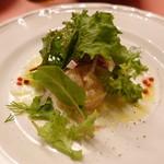 ピッツェリア・サバティーニ - 極上鮮魚のタルターラ西洋山葵とヨーグルトのソース香味野菜サラダ仕立て