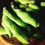 うふふBis - 空豆のあみ焼き又は 空豆と人参のかき揚げ