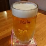 かいせき あづま路 - 生ビール。