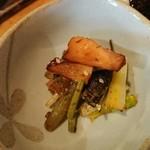 かいせき あづま路 - 筍と山菜のトサあえ。
