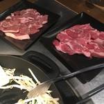 ジンギスカン羊羊亭 - *こだわりの生ラムロース肉 1200円 *こだわりの生ラムランプ肉 1200円