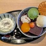 Kikumaru - あんみつ             春若草             黒蜜             ソフトクリーム