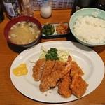 いわさき - ミックスフライ定食