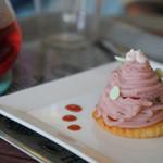 おかしなCafe ピコット - いちごのモンブラン