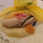 organ - 牡蠣とパースニップのピュレ 黄蕪