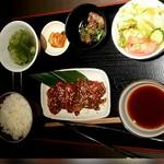 熟成焼肉 听 - ハラミ定食