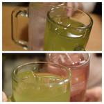 大都会 - 緑茶ハイとレモンサワーで乾杯♪
