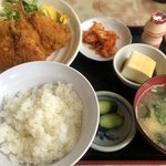 <民宿>しをみ食堂 - アジフライ定食 700円