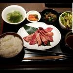 熟成焼肉 听 - 特選カルビ定食