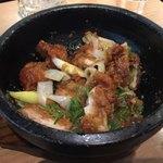 群馬の台所 - 料理写真:赤城鶏の石焼山賊風