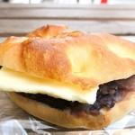 84518525 - しおパンのサンド つぶあんバター