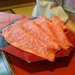 三嶋亭 - 北海道産のお肉