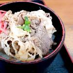 うどんの田 - 牛丼