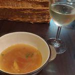 モーゼ - オニオンスープ、ワイン(白)